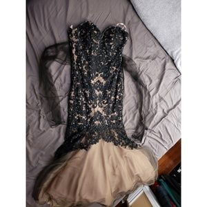 Anny Lee SP4000 Black & Nude Lace/ Sequin Tulle